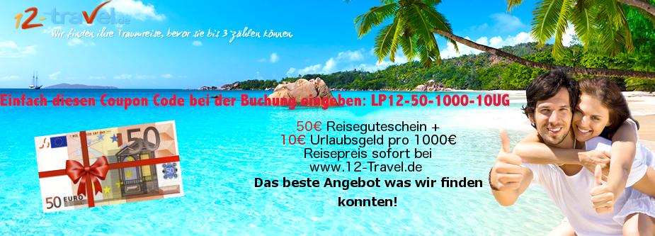 50 Euro Urlaubsgutschein geschenkt.